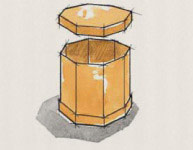 Octagonal Double Cover Container